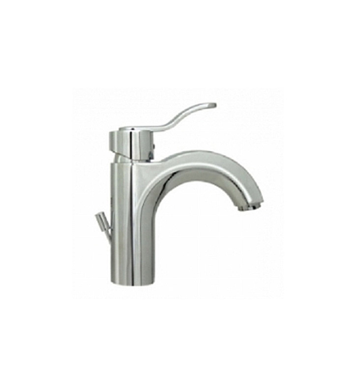 Whitehaus 3-04040-C Wavehaus Single hole/Single lever Lavatory Faucet with Pop-up Waste With Finish: Polished Chrome