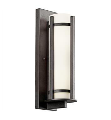 "Kichler 49122AVIFL Camden 3 Light 9"" Fluorescent Outdoor Wall Sconce in Anvil Iron"