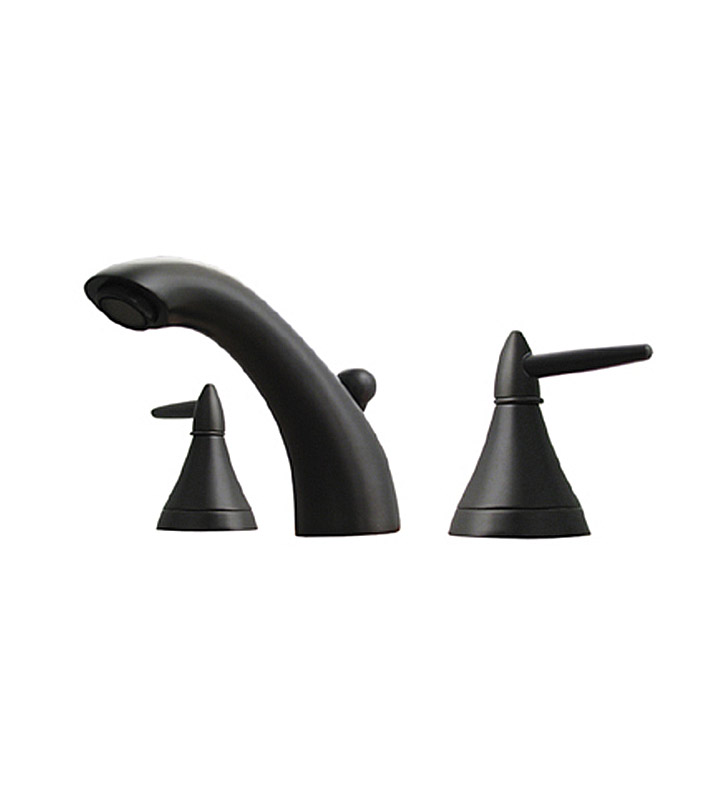 Whitehaus 614.111WS-P Blairhaus Jackson Widespread Lavatory Faucet with Smooth Escutcheons and Pop-up Waste With Finish: Pewter