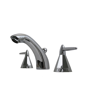 Whitehaus 614.151WS-AB Blairhaus Monroe Widespread Lavatory Faucet with Smooth Arcing Spout, Octagone-shaped Lever Handles, Smooth Escutcheons and Pop-up Waste With Finish: Antique Brass