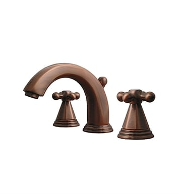 Whitehaus 514.141WS-P Blairhaus Truman Widespread Lavatory Faucet with Beveled Escutcheons and Pop-up Waste With Finish: Pewter