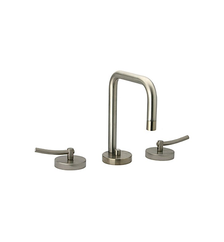 Whitehaus WH81214L Metrohaus Widespread Lavatory Faucet with Swivel Spout, Lever Handles and Pop-up Waste