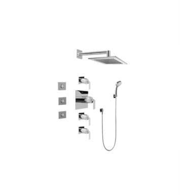 Graff GC1.132A-LM40S-PC Immersion Contemporary Square Thermostatic Set with Body Sprays and Handshower With Finish: Polished Chrome And Rough / Valve: Trim + Rough