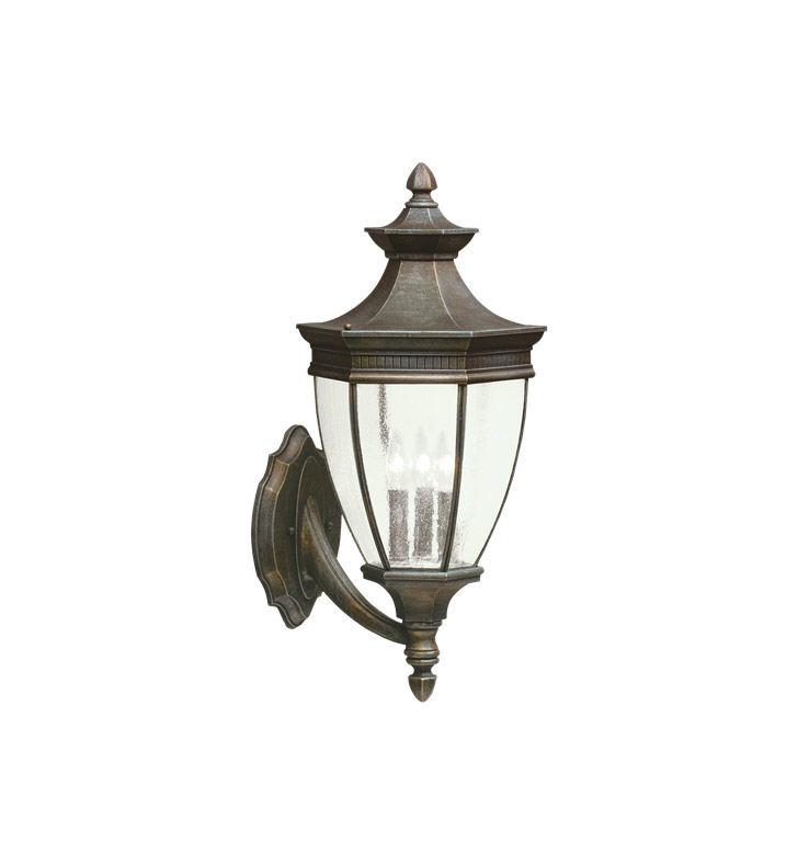 Kichler 9372TZ Warrington Collection 3 Light Outdoor Wall Sconce in Tannery Bronze