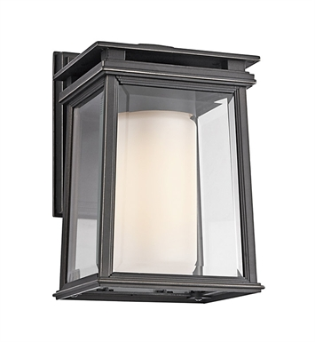 Kichler 49400RZ One Light Outdoor Wall Sconce in Rubbed Bronze