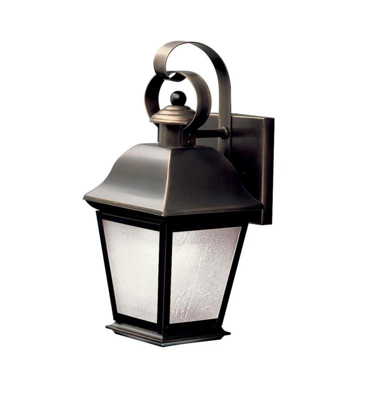 "Kichler 10907OZ Mount Vernon 1 Light 5 1/2"" Compact Fluorescent Outdoor Wall Sconce in Olde Bronze"