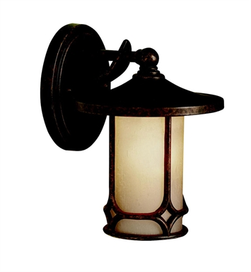 Kichler 9364AGZ Chicago Collection 1 Light Outdoor Wall Sconce in Aged Bronze