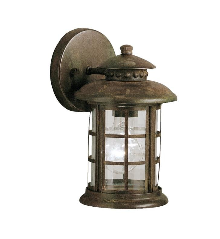 "Kichler 9759RST Rustic 1 Light 6"" Incandescent Outdoor Wall Sconce in Rustic"