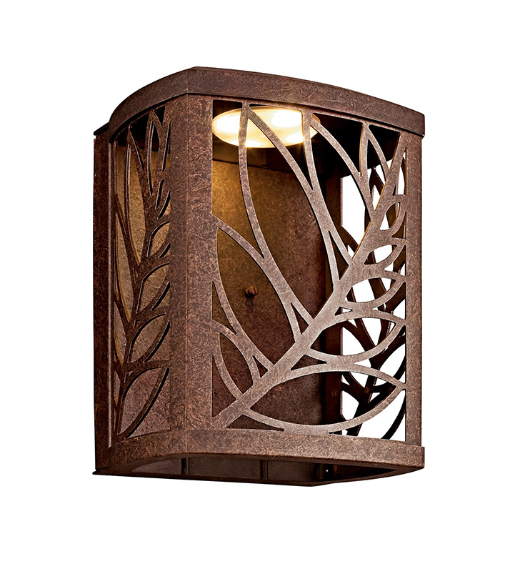 Kichler 49251AGZLED Takil Collection Outdoor Wall Sconce in Aged Bronze