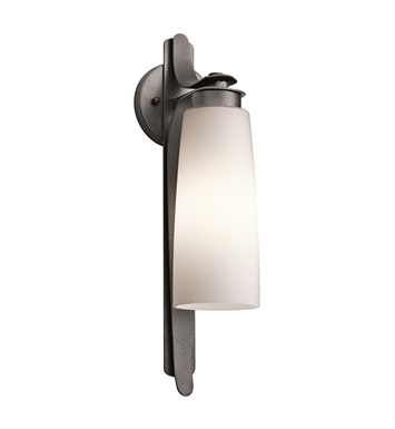 Kichler 49025AVI Vitalino Collection 1 Light Outdoor Wall Sconce in Anvil Iron