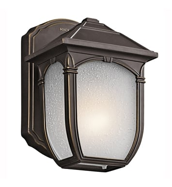 Kichler 49428RZ One Light Outdoor Wall Sconce in Rubbed Bronze
