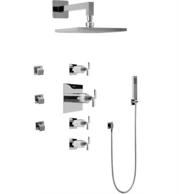 Graff GC1.222A-C9S-PC Immersion Contemporary Square Thermostatic Set with Body Sprays and Handshower With Finish: Polished Chrome And Rough / Valve: Trim + Rough