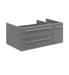 "Fresca FCB6136GR-UNS-R Lucera 36"" Gray Wall Hung Undermount Sink Modern Bathroom Cabinet - Right Version"