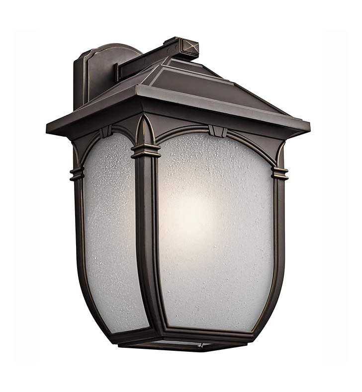 Kichler 49433RZ One Light Outdoor Wall Sconce in Rubbed Bronze