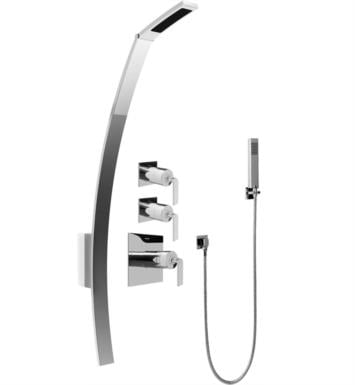 "Graff GF2.020A-LM40S-PC Luna 53 3/8"" Thermostatic Shower Set with Handshower With Finish: Polished Chrome And Rough / Valve: Trim + Rough"