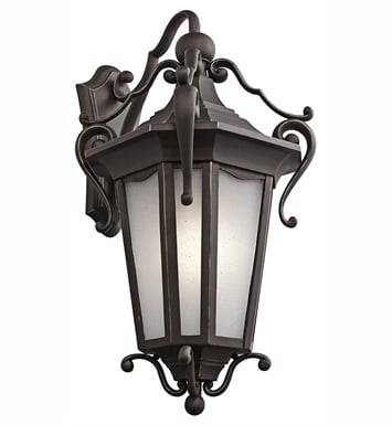 Kichler 49420RZ Nob Hill Collection 1 Light Outdoor Wall Sconce in Rubbed Bronze