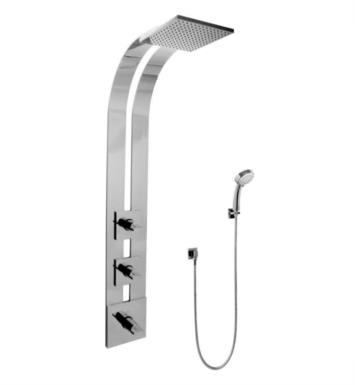 "Graff GE2.030A-C14S-PC 51"" Thermostatic Ski Shower Set with Handshower With Finish: Polished Chrome And Rough / Valve: Trim + Rough"