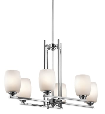 Kichler 3898CH Eileen Collection Chandelier 6 Light With Finish: Chrome