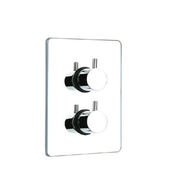 Whitehaus WHLX785T-BN Luxe Thermostatic Valve with Square Plate With Finish: Brushed Nickel