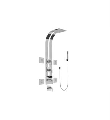 "Graff GE1.120A-LM40S-PC Immersion 51"" Thermostatic Ski Shower Set with Body Sprays and Handshower With Finish: Polished Chrome And Rough / Valve: Trim + Rough"