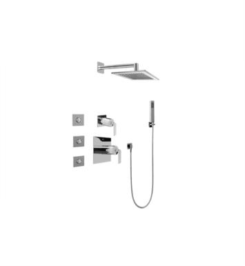 Graff GC5.122A-LM40S-PC Immersion Full Thermostatic Shower System with Diverter Valve With Finish: Polished Chrome And Rough / Valve: Trim + Rough
