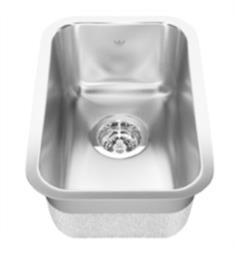 "KWC QSU1812-7 Kindred 11 3/4"" Single Bowl 20 Gauge Stainless Steel Undermount Bar Sink"