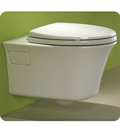 "TOTO CWT486MFG Maris 22 1/8"" Wall Hung D Shaped Elongated Toilet with 1.6 GPF and 0.9 GPF Dual Flush"