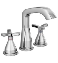 "Delta 357766-MPU-DST Stryke 6 7/8"" Two Cross Handle Widespread Bathroom Faucet with Pop-Up Drain"