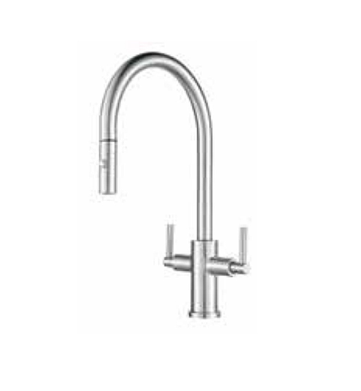 Franke Ffpd3350 Cube 2 Handle Pull Down Kitchen Faucet
