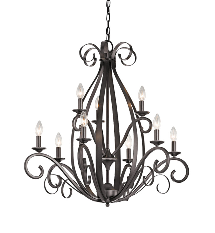 Kichler 43465SMG Kambry Collection Chandelier 9 Light in Grey