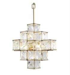 "Varaluz 329P06CG Cubic 6 Light 18 1/2"" Incandescent Ceiling Mount Pendant in Calypso Gold"