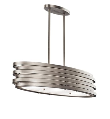 Kichler 43303NI Roswell Collection Chandelier/Oval Pendant 3 Light With Finish: Brushed Nickel