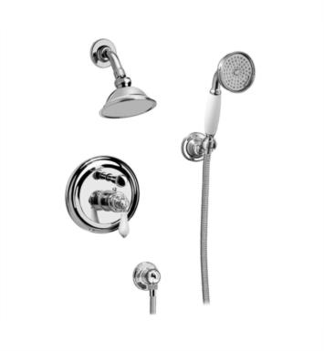 Graff G-7167-LC1S-SN Canterbury Full Pressure Balancing System Shower with Handshower With Finish: Steelnox (Satin Nickel) And Rough / Valve: Trim + Rough