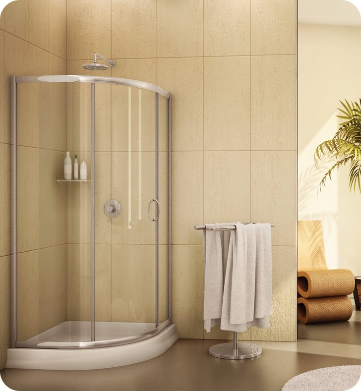Fleurco Fa363 Signature Capri Round 3 Frameless Curved Glass Sliding