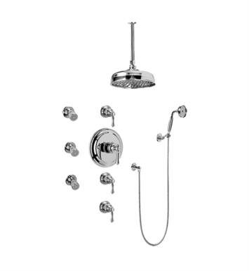 Graff GA1.221B-LM15S-PN Nantucket Traditional Thermostatic Set with Body Sprays and Handshower With Finish: Polished Nickel And Rough / Valve: Trim + Rough