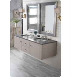 "James Martin 312-V60D-MTM Silverlake 59 3/4"" Double Bathroom Vanity in Mountain Mist"