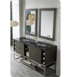 "James Martin 864-V72-SOK Sonoran 71 7/8"" Freestanding/Wall Mount Double Bathroom Vanity in Silver Oak"