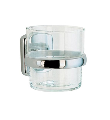 Smedbo CK343 Cabin Holder with Glass Tumbler in Chrome