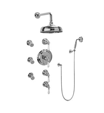 Graff GA1.222B-LC1S-PC Canterbury Traditional Thermostatic Set with Body Sprays and Handshower With Finish: Polished Chrome And Rough / Valve: Trim + Rough