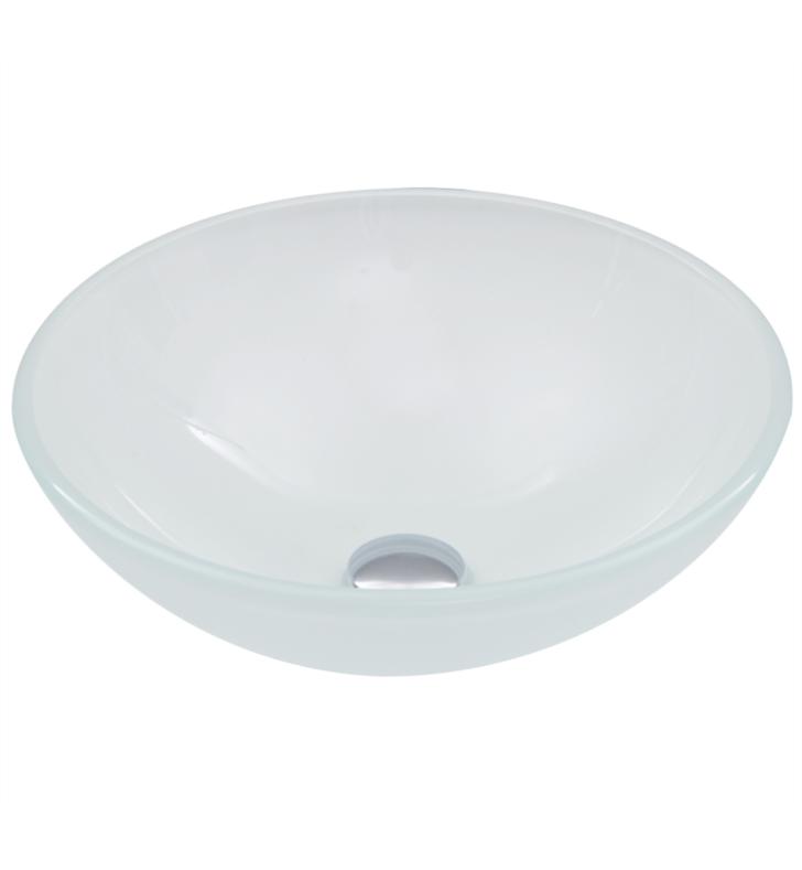 Vigo Vg07043 16 1 2 Glass Circular Vessel Bathroom Sink In White