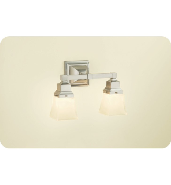 Robern MLLWSBNDD M Series MLLWS Double Wall Sconce Light in Brushed Nickel
