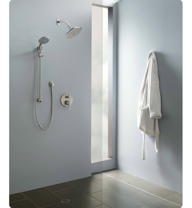 hansgrohe eshowersys2 e shower system with handshower. Black Bedroom Furniture Sets. Home Design Ideas
