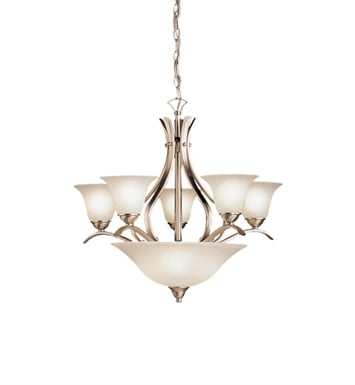 Kichler 2018NI Dover Collection Chandelier 5 Light in Brushed Nickel