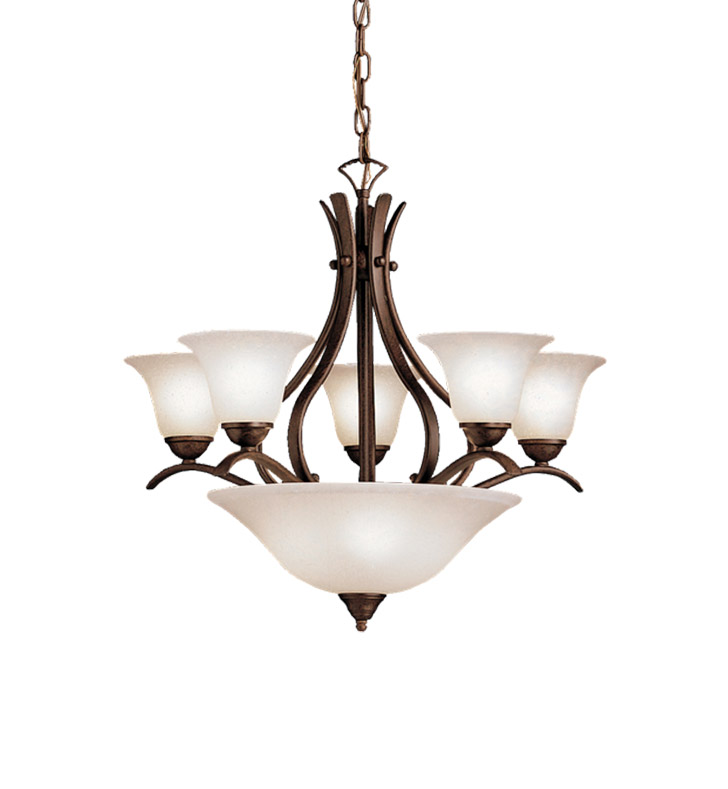 Kichler 2018TZ Dover Collection Chandelier 5 Light in Tannery Bronze