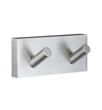 Smedbo RS356 House Hook Double in Brushed Chrome