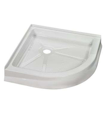 "Fleurco ABR40-18 Round Acrylic Corner Shower Base With Base Size: 40"" x 40"" x 4 1/2"" And Finish: White"