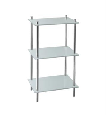 "Smedbo FK453 Outline 16"" Free Standing 3-Tier Glass Shelf in Polished Chrome"