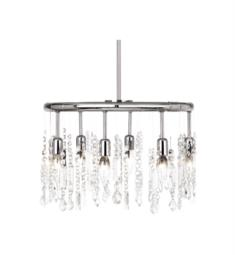 "Dainolite 85301-PC-CLR Bohemian 6 Light 18"" Ceiling Mount Crystal Round Pendant in Polished Chrome"