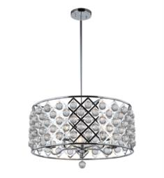 "Dainolite CRE-225C-PC Cresfield 5 Light 22"" Ceiling Mount Large Pendant with Crystals Balls"