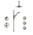 "Hansgrohe HG-S-SHOWERSYS3 ""S"" Shower System with Handshower Set and Bodysprays in Chrome"